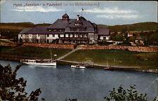 1928 Stempel DRESDEN auf AK v. PAULSDORF b/ Dippoldiswalde Schiff Hotel Seeblick