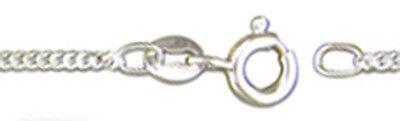 "1 Sterling Silver 925 Strong Medium Weight Curb Necklace Chain, 18"", 46 Cm Ausgereifte Technologien"