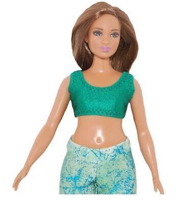 Short Dress made for Curvy Barbie Fashionista Doll Clothes TKCT tan flowers