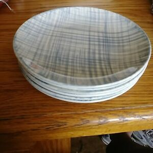 Blue ridge SILHOUETTE DENIM BLUE set of 6 dessert plate