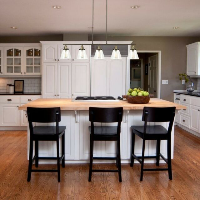 Kitchen Island Lamp Pendant Lighting For Dining Room Fixture Bar Glass 5  Light