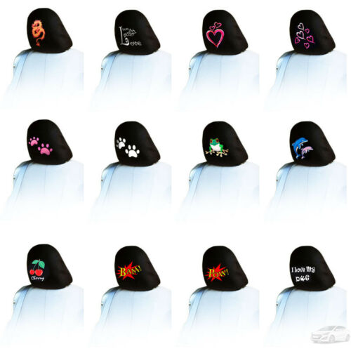 NEW FOR HYUNDAI ONE PIECE EMBROIDERY LOGO CAR TRUCK AUTO SEAT HEADREST COVER