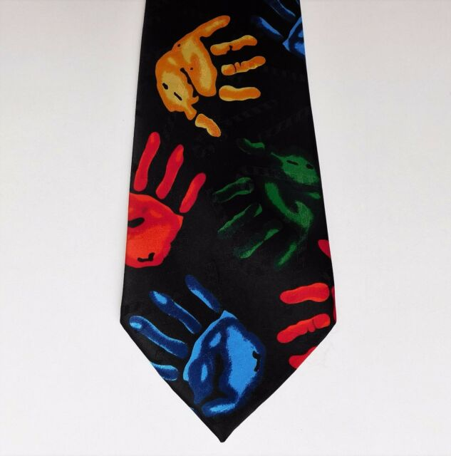 Hands novelty tie by A Rogers Bright and cheerful and colourful