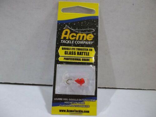 Acme Google Eye Tungsten glass rattle jig 3mm strep throat NIP