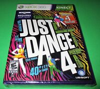 Just Dance 4 Microsoft Xbox 360 Factory Sealed Free Shipping