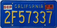GENUINE American California Blue USA License Licence Number Plate 2F57337
