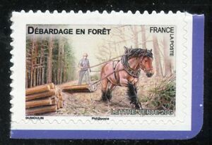 STAMP-TIMBRE-FRANCE-AUTOADHESIF-N-824-FAUNE-CHEVAUX-DE-TRAIT-DE-NOS-REGION