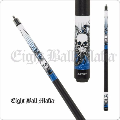Eight Ball Mafia 2 Pc Billiard House Bar Cue Stick Skull Octopus 1821 OZ