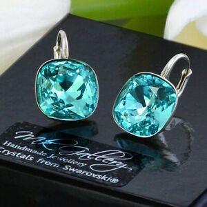 925-SILVER-EARRINGS-FANCY-STONE-CRYSTALS-FROM-SWAROVSKI-LIGHT-TURQUOISE