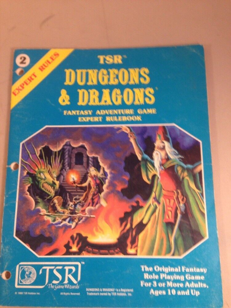 TSR DUNGEONS & DRAGONS Expert Rules 2015 Fantasy Adventure Game Rule Book 1981