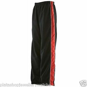 Finden-Hales-Ladies-Piped-Black-Sports-Contrast-Red-Trackpant-LV851-Size-S