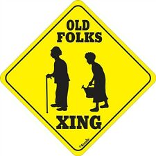 Old Folks Xing Sign