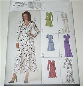 VOGUE MISSES TOP /& SKIRT PATTERN 7822 UNCUT SZ 14-18