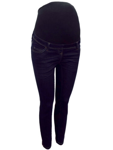 Maternity Next Over The Bump Jeggings Jeans Blue Navy Size 6-20 Leg 25-32