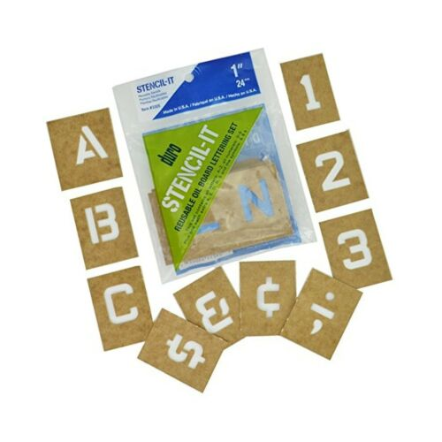 "Duro by Graphic Products Stencil-It Oil Board Stencil Set 1/"" 1-Inch"