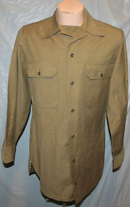 WWII-US-ARMY-ENLISTED-WOOL-KHAKI-SHIRT-REPO