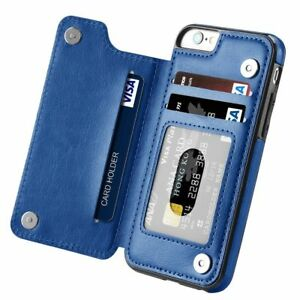 Magnetic Leather Wallet Case Card Slot Shockproof Cover For iPhone 7 6 Plus