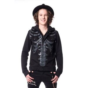 Black Gothic Goth Fracture Jacket Casual Punk Uomo Heartbreaks New Uomo Emo xTtwAf