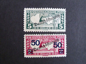STAMPS-AUSTRIA-MLH-1917-2h-amp-5h-166-a-b-both-overprint-special-delivery-stamp