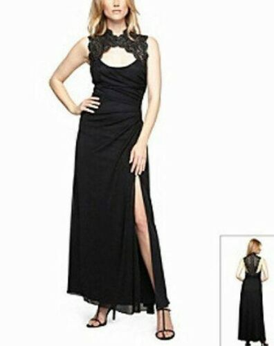 Details about  /ALEX EVENINGS 12 14 Cutout Lace Bodice Long Gown or Dress NWT $174