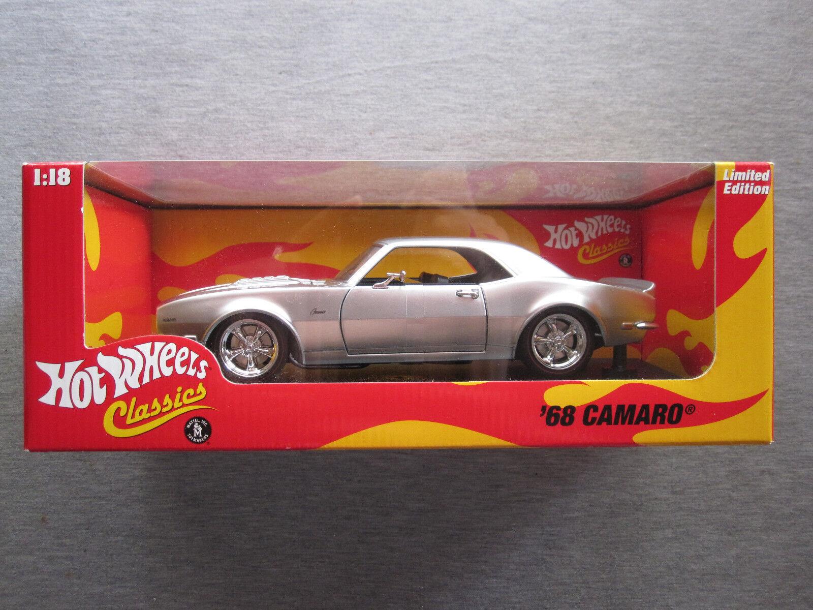 Hot Wheels Classics 1 18 HWC Edición Limitada'68 Camaro H8763-Nuevo