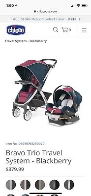 Chicco Bravo Trio 3-in-1 Baby Travel System Stroller with ...