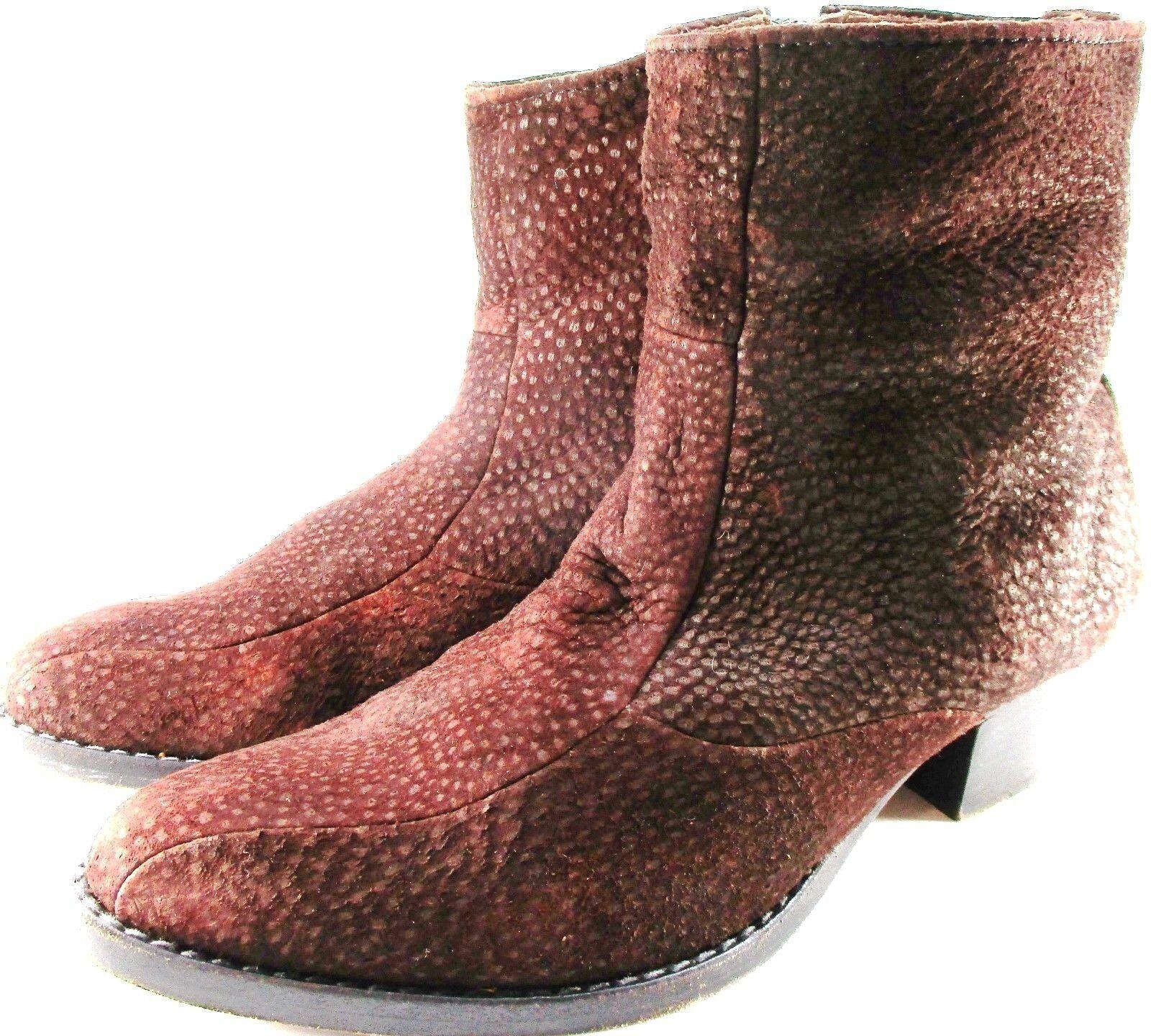 el precio más bajo Weiton Hombres Tobillo botas plantillas de cuero cuero cuero marrón de cuero forrados con cremallera.  Entrega gratuita y rápida disponible.