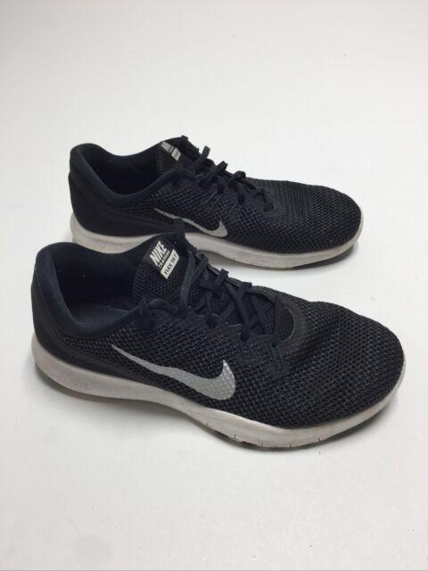 Nike Womens Flex Trainer 7 Wide Authentic Black Silver White 898781-001  Size 8