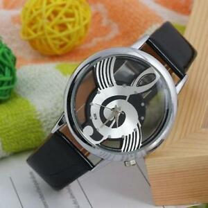 Salable-Unisex-Geneva-Note-Music-Notation-Watche-Leather-Brand-Quartz-Wristwatch