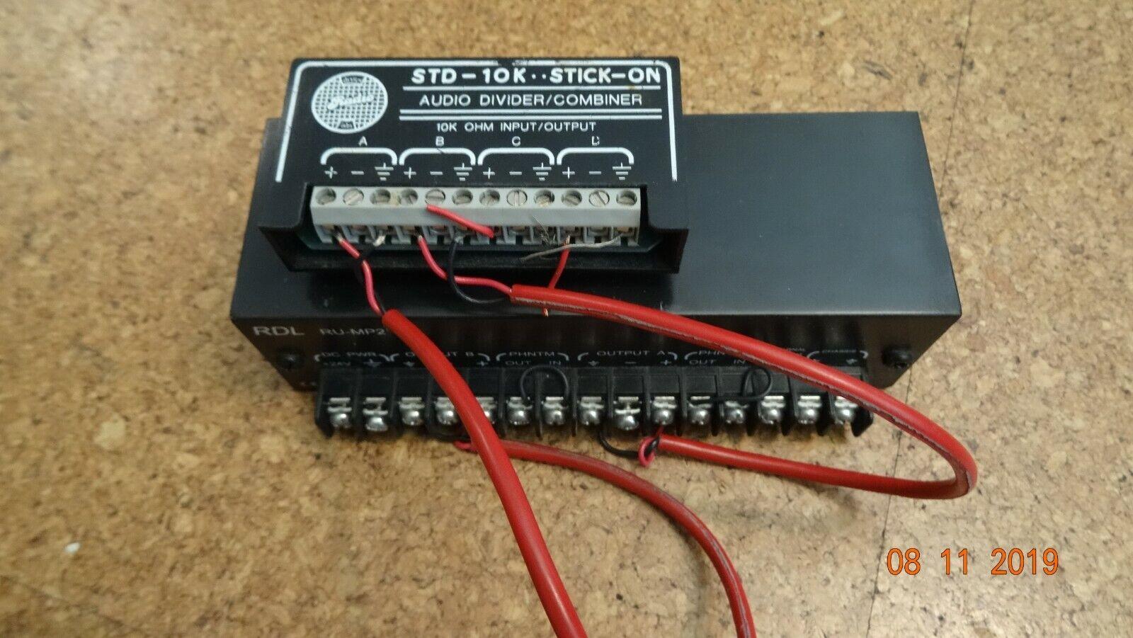 RDL RU-MP2 STEREO MIC PREAMPLIFIER   RDL STD-10K Divider-Combiner