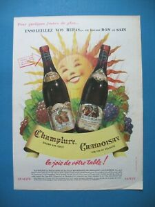 Advertising-Press-Champlure-Cramoisay-Wine-de-Table-Ensoleillez-Vos-Lunch-1964