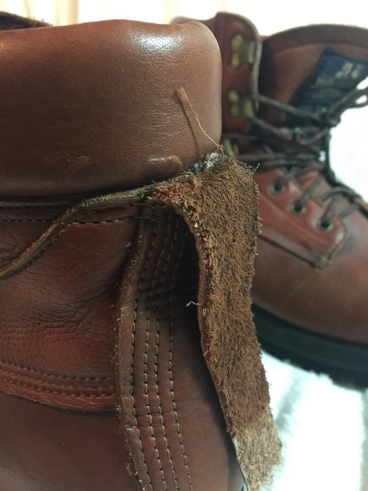 Vintage Mens Willis & Geiger Leather Hiking Stiefel Stiefel Stiefel Sz 8 Very Rare Made In USA baf744