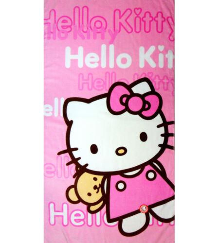Authentic Hello Kitty /& Bear bath beach towel girl pink birthday present gift