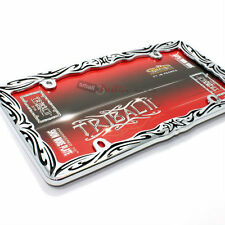 1PC CHAIN LINK METAL HEAVY DIE CAST LICENSE PLATE TAG FRAME FOR CAR//TRUCK//SUV S2
