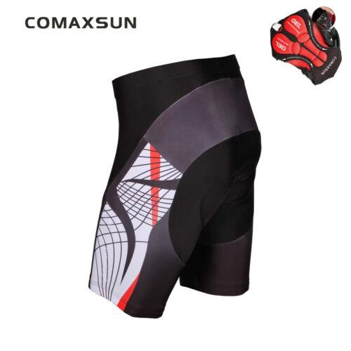 Comaxsun Men/'s Cycling Shorts 3D Gel Padded Bike Bicycle Sports Tight S-3XL