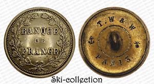 Boton-de-La-Banque-Banque-de-Francia-Hacia-1860-26-MM