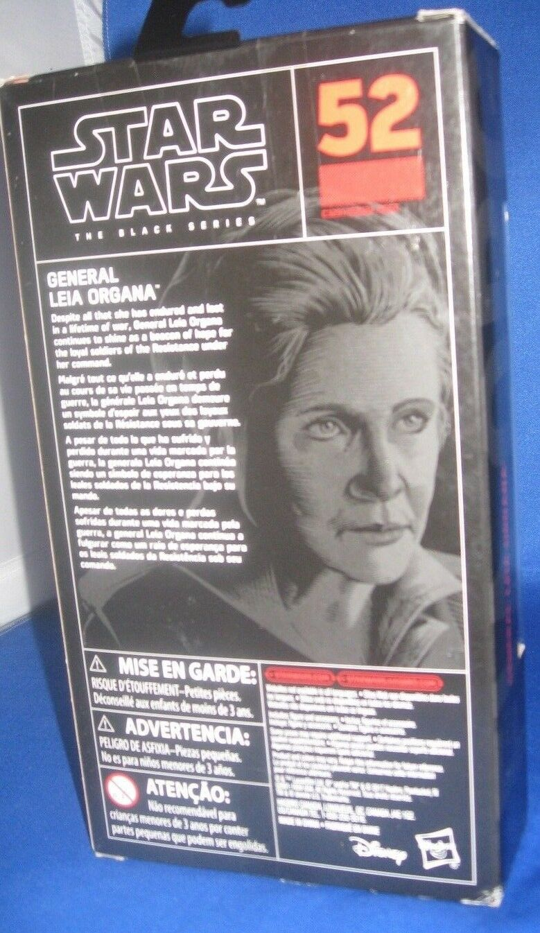 StarWars figurine : HASBRO STAR WARS THE BLACK SÉRIES  52 GÉNÉRAL LEIA ORGANA 15.2cm FIGURINE