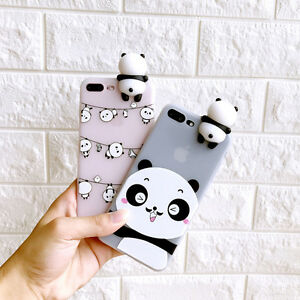 057f17ee2c Adorable Chubby Panda 3D Animal Toy Doll Soft Case Cover for iPhone ...