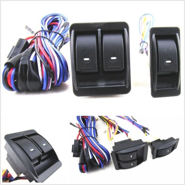 for nissan pathfinder x-trail 12v power window switch kit with wire harness  new