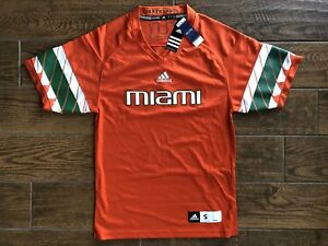 Image is loading Adidas-Miami-Hurricanes-NCAA-Football-Jersey-Orange-Men- 1bca5b255