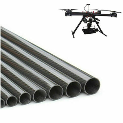 """Dia14-30mm Wall 2mm 3K Carbon Fiber Tube Pipe Glossy Surface Roll Wrapped 20/"""""""