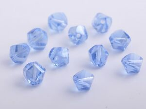 30pcs-10mm-Twist-Helix-Crystal-Glass-Findings-Loose-Spacer-Beads-Light-Blue