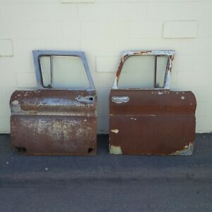 1961 1962 1963 Chevy Truck Doors with Glass Chevrolet Pickup Vintage 60s Pick Up
