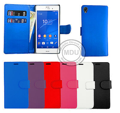 Leather Wallet Book Flip Case Pouch For Sony xPeria Experia Mobile Phones