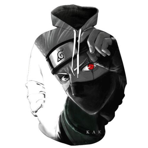 Naruto 0 Uzumaki Anime Men/'s Pullover Sweat Zipper Veste Manteau Tops