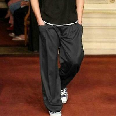 1 Mens Loose Wide Leg Pants Suit Casual Dress Long Trousers
