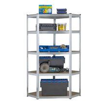 Galvanised Corner Shelvingracking Garage Storage Unit Shelves 175kg 1800mm H