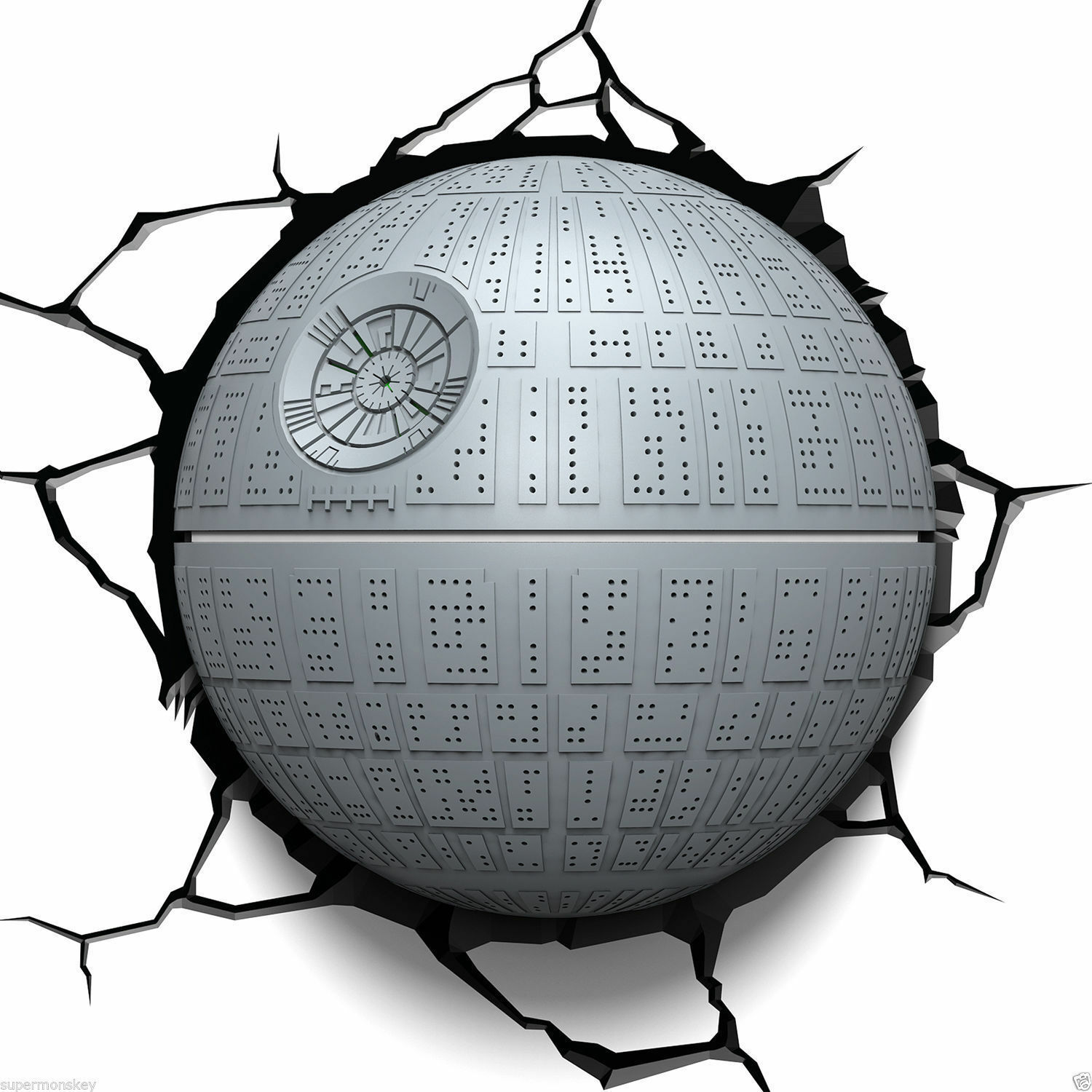 STAR WARS 3D DECO LIGHT FX DEATH STAR LED WALL NIGHTLIGHT
