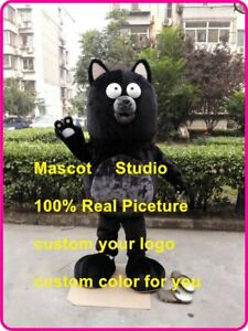 1# Unisex Cat Mascot Costume Cosplay Party Game Dres Outfit Advertising Adult 1P