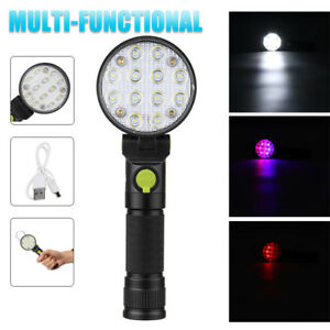 Handheld-LED-Inspection-Light-Torch-Flashlight-Lamp-Magnetic-Base-Camping